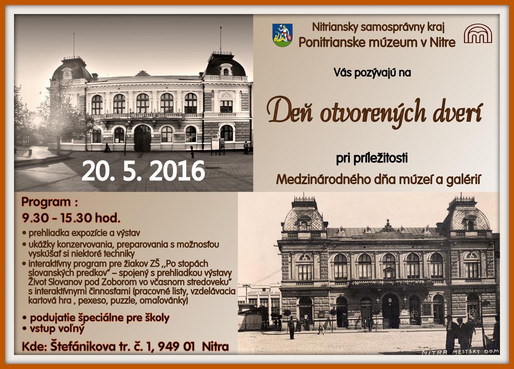 Deň otvorených dverí v Ponitrianskom múzeu - Kam v meste  ba61c36c030