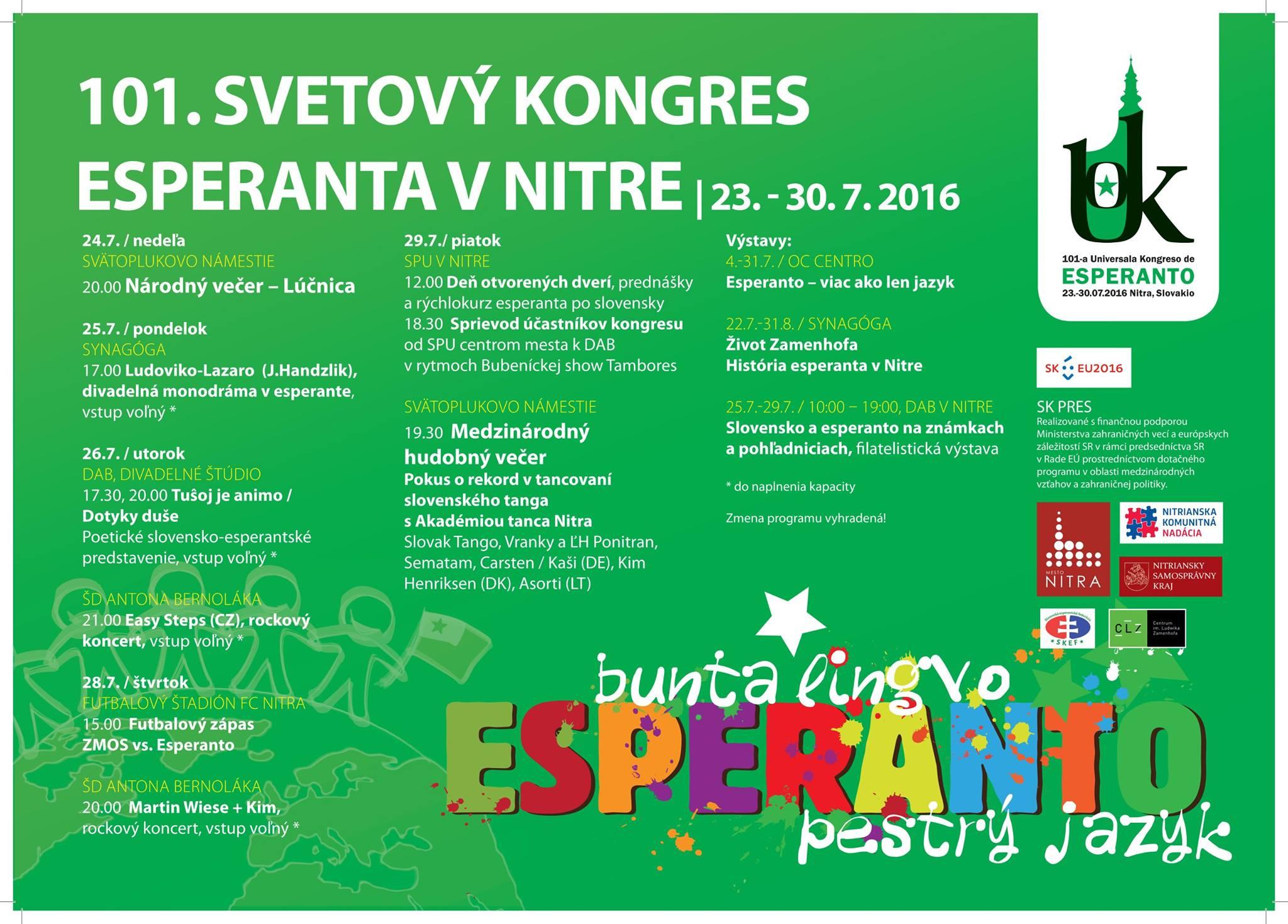 8ba994df5e 101. Svetový kongres esperanta - pozvánka n - Kam v meste