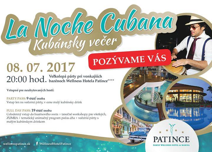 7bd04c032 La NOCHE Cubana - Kubánska noc vo Wellness - Kam v meste | moja Nitra